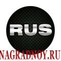 Виниловый магнит RUS карбон