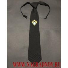 Форменный галстук с вышитым логотипом Ространснадзора