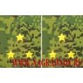 Фальшпогоны камуфлированные с желтыми звездами звание старший лейтенант