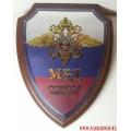 Щит с эмблемой Министерства внутренних дел Российской Федерации