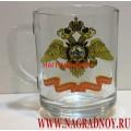 Стеклянная кружка с эмблемой МВД РФ
