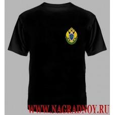 Футболка с вышитой эмблемой Пограничной службы России