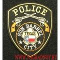 Патч Police gun barrel city с липучкой