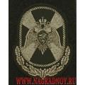 Шеврон черного цвета ЦА Росгвардии с липучкой