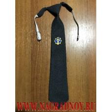 Форменный галстук серого цвета с вышитой эмблемой ГТН