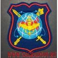 Шеврон военнослужащих НЦУО РФ для парадной формы синего цвета