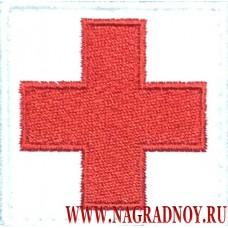 Квадратная нашивка с липучкой Красный крест