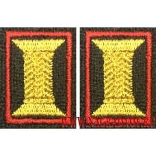 Петличные эмблемы катушки с красным кантом