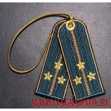 Брелок погоны старшего лейтенанта МЧС России