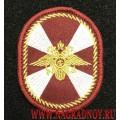 Нарукавный знак принадлежности к ВВ МВД России с липучкой черного цвета