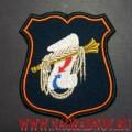 Нарукавный знак военнослужащих ГОУ ГШ ВС РФ для парадной формы цвета морской волны