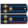 Погоны полковника ВВС с вышитыми звездами