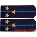 Погоны старшего лейтенанта ВВС с вышитыми звездами
