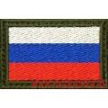 Нашивка на рукав Флаг РФ с пришитой липучкой