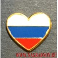 Миниатюрный значок Люблю Россию