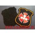 Нарукавный знак военнослужащих ГРУ ГШ для офисной формы чёрного цвета (с липучкой)