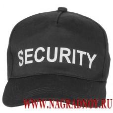 Бейсболка со светоотражающей надписью Security