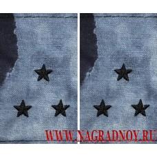 Фальшпогоны из камуфляжной ткани синий Мох звание старший лейтенант