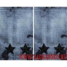 Фальшпогоны из камуфляжной ткани синий Мох звание подполковник