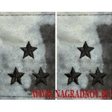 Фальшпогоны из камуфляжной ткани синий Мох звание полковник