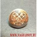 Пуговица с Гербом РФ 14 мм серебряного цвета
