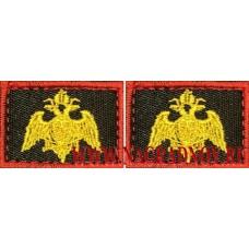 Вышитые петличные эмблемы Росгвардии с липучкой