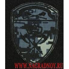 Шеврон с липучкой подразделения обеспечения ЦО ВНГ  камуфляж Цифра серая
