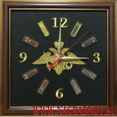 Настенные часы с эмблемой Вооруженных сил РФ и погонами