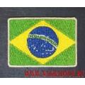 Нашивка Флаг Бразилии