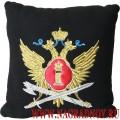 Подушка с вышитой эмблемой ФСИН России