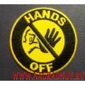 Нашивка с термоклеем HANDS OFF