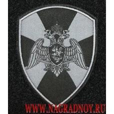 Жаккардовый шеврон Росгвардии черный с липучкой