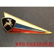 Знак на берет триколор с эмблемой ВВ МВД олень