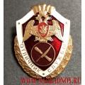 Нагрудный знак войск национальной гвардии РФ Отличник службы в органах управления