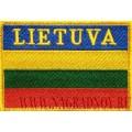 Нашивка Флаг Республики Литва LIETUVA