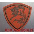 Нашивка на рукав военнослужащих ВВ МВД конь краповый фон