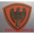 Нашивка на рукав военнослужащих ВВ МВД сокол краповый фон