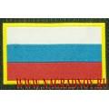 Нашивка жаккардовая Флаг России с липучкой