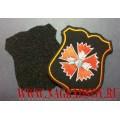 Шеврон военнослужащих ГРУ ГШ для офисной формы черного цвета (с липучкой)