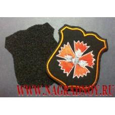 Шеврон военнослужащих ГРУ ГШ для офисной формы черного цвета с липучкой