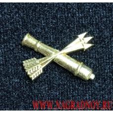 Петличная эмблема войска ПВО золотого цвета