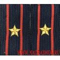 Фальшпогоны МВД нового образца с вышитыми звездами звание майор