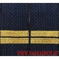 Фальшпогоны МВД нового образца с вышитыми лычками звание младший сержант