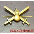 Петличная эмблема Сухопутных войск России для полевой формы
