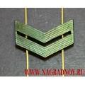 Знак различия для полевой формы звание младший сержант