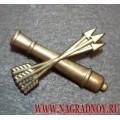 Петличная эмблема войск ПВО полевая
