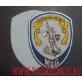 Жаккардовый шеврон сотрудников ЦА следственных подразделений МВД для рубашки голубого цвета с липучкой