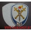 Жаккардовый шеврон сотрудников следственных органов МВД для рубашки голубого цвета с липучкой