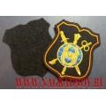 Шеврон Восьмого управления ГШ ВС РФ для офисной формы чёрного цвета (с липучкой)