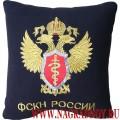 Подушка с вышитой эмблемой ФСКН России